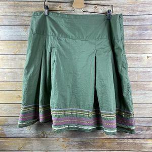 Merona A-line Skirt Pleated Ribbon Hem (L009)